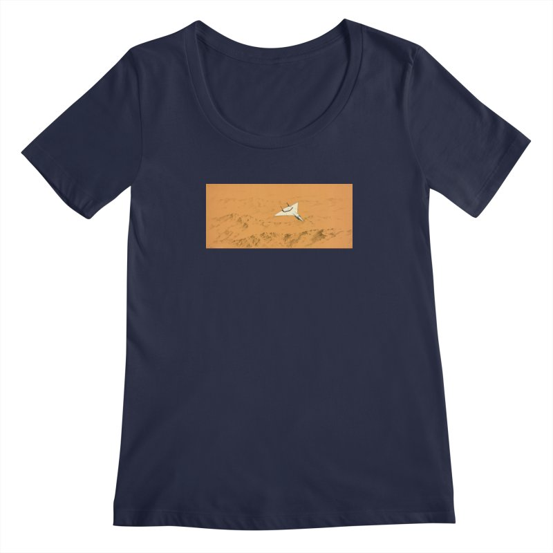 Concept Ship 7 Women's Regular Scoop Neck by Colin Cantwell ll
