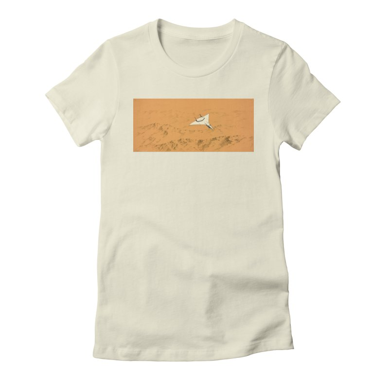 Concept Ship 7 Women's Fitted T-Shirt by Colin Cantwell ll