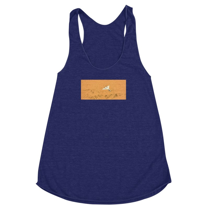 Concept Ship 7 Women's Racerback Triblend Tank by Colin Cantwell ll