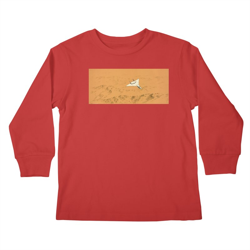 Concept Ship 7 Kids Longsleeve T-Shirt by Colin Cantwell ll