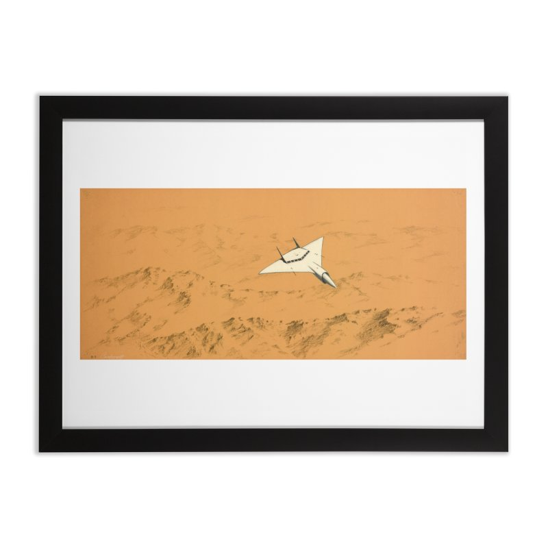 Concept Ship 7 Home Framed Fine Art Print by Colin Cantwell ll