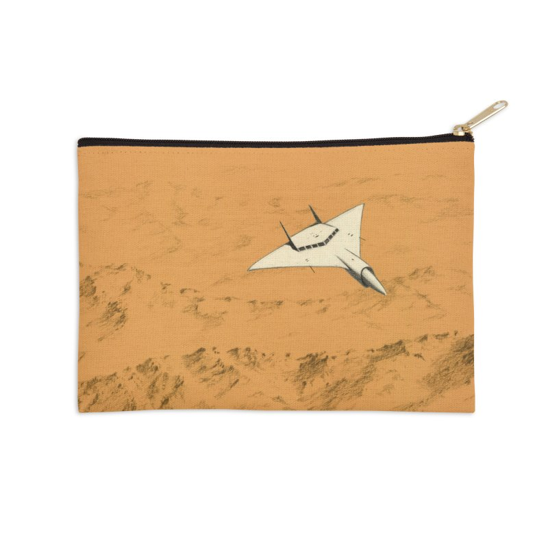Concept Ship 7 Accessories Zip Pouch by Colin Cantwell ll