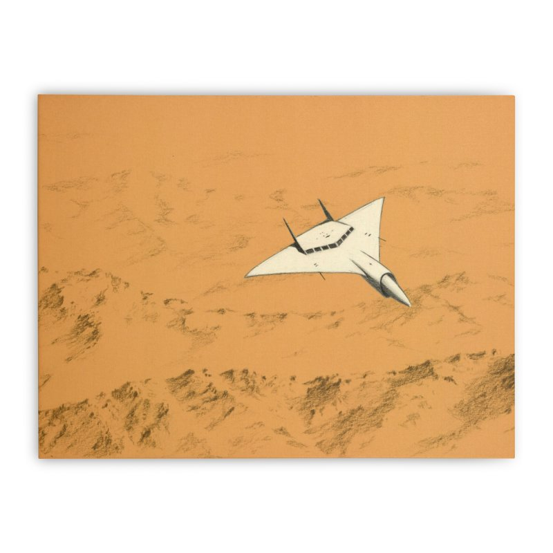 Concept Ship 7 Home Stretched Canvas by Colin Cantwell ll