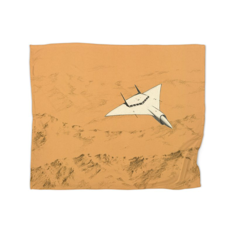 Concept Ship 7 Home Blanket by Colin Cantwell ll