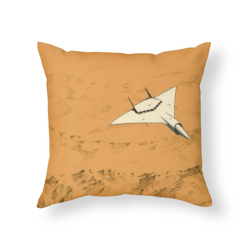 Concept Ship 7 Home Throw Pillow by Colin Cantwell ll