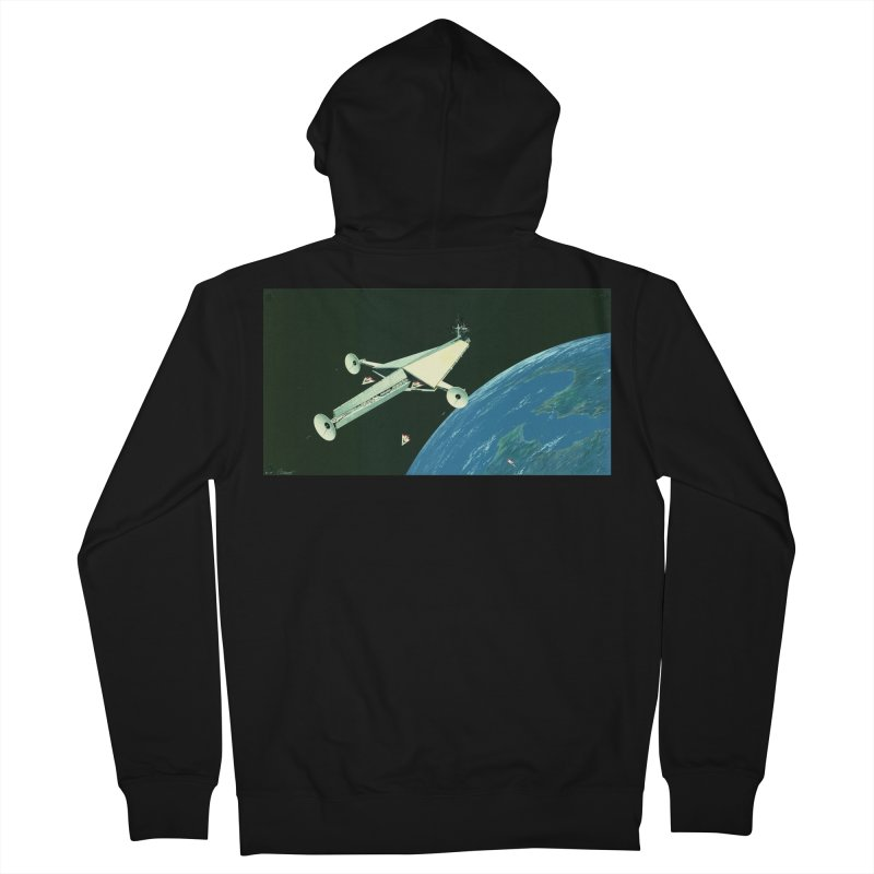 Concept Ship 6 Women's French Terry Zip-Up Hoody by Colin Cantwell ll