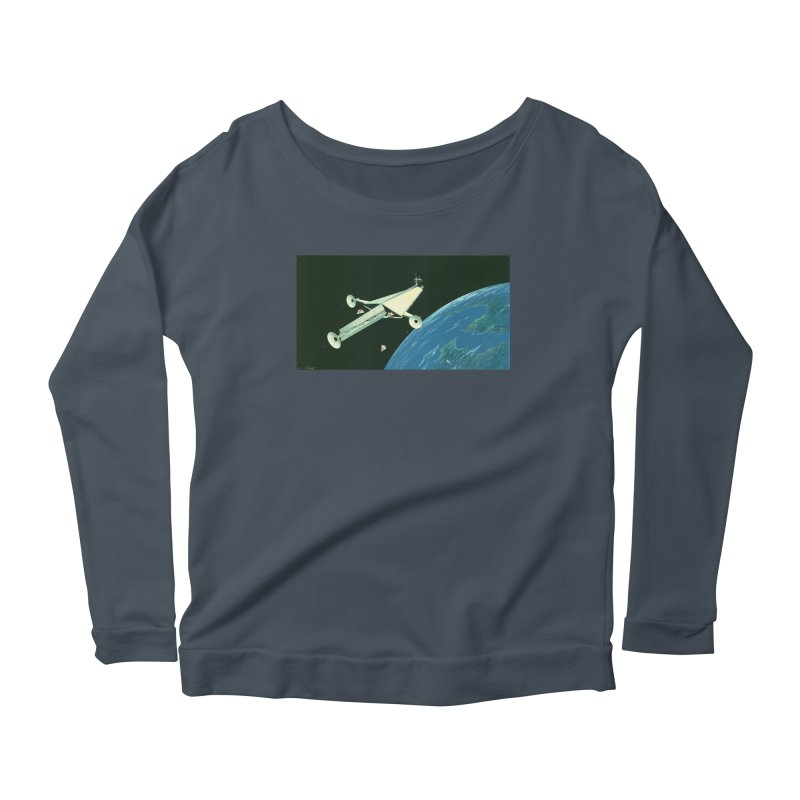 Concept Ship 6 Women's Scoop Neck Longsleeve T-Shirt by Colin Cantwell ll