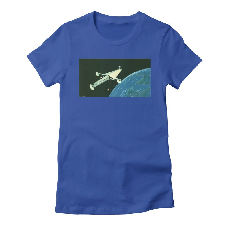 Concept Ship 6 Women's Fitted T-Shirt by Colin Cantwell ll