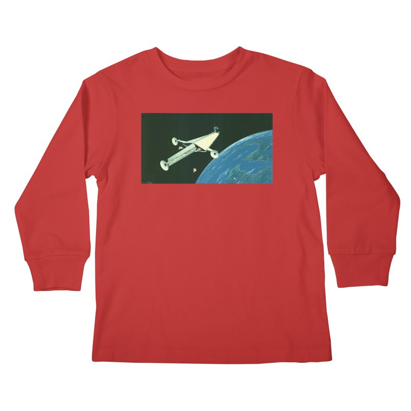 Concept Ship 6 Kids Longsleeve T-Shirt by Colin Cantwell ll
