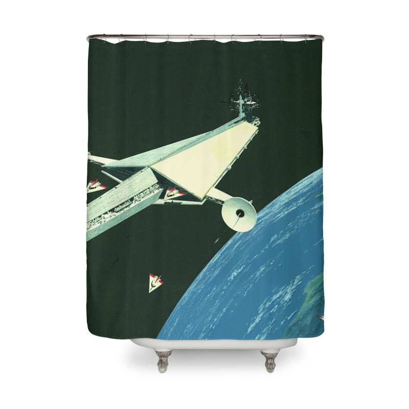 Concept Ship 6 Home Shower Curtain by Colin Cantwell ll