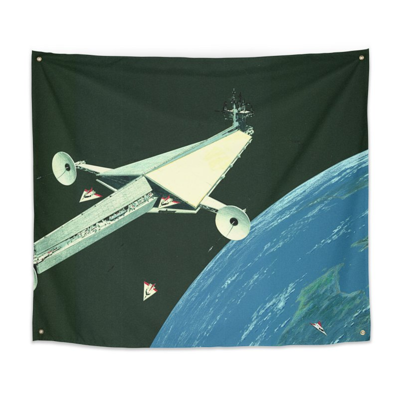 Concept Ship 6 Home Tapestry by Colin Cantwell ll