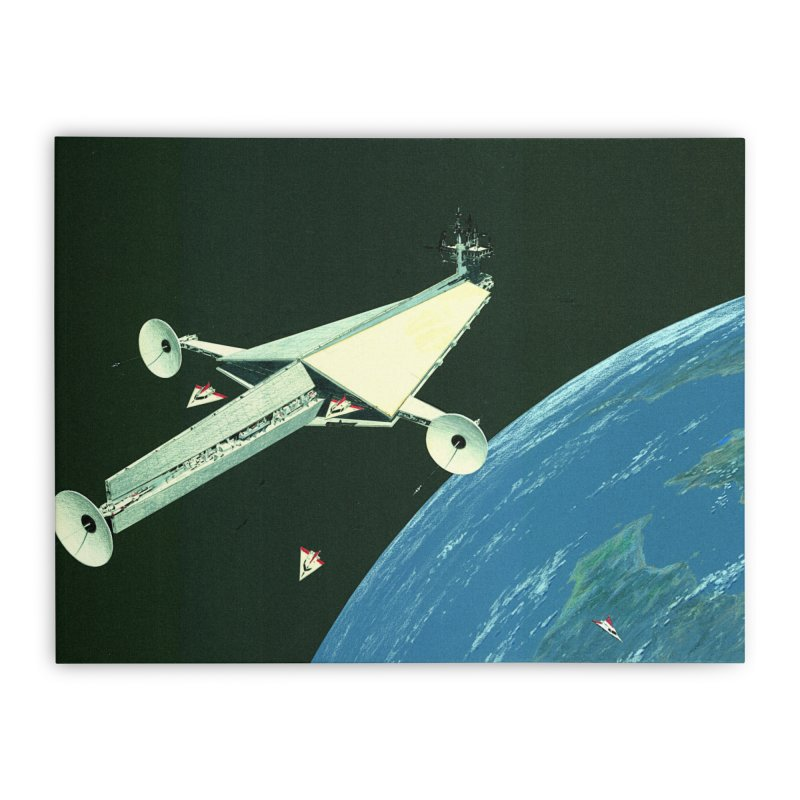 Concept Ship 6 Home Stretched Canvas by Colin Cantwell ll