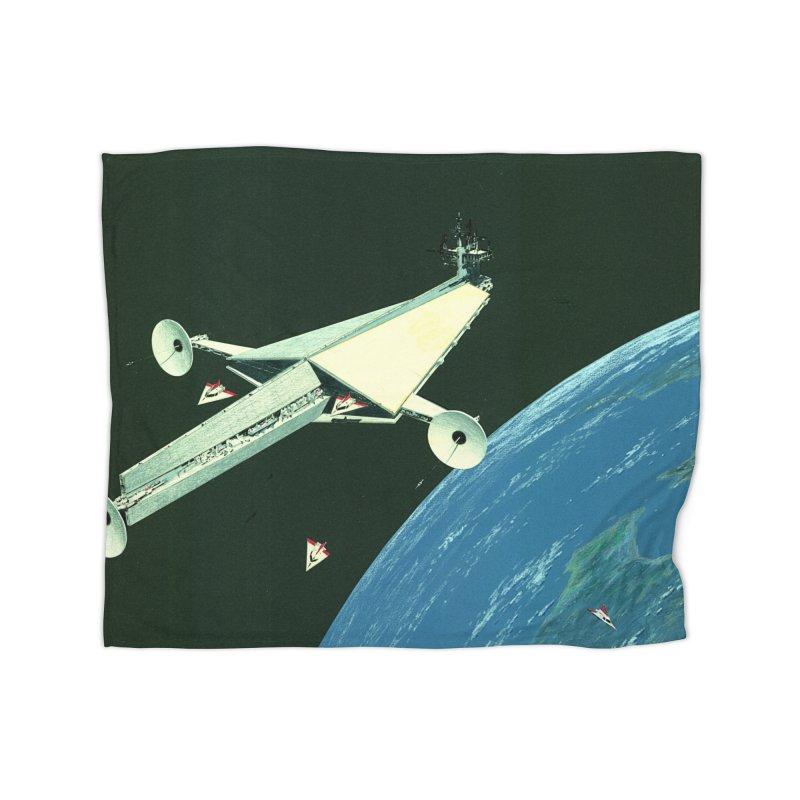 Concept Ship 6 Home Fleece Blanket Blanket by Colin Cantwell ll