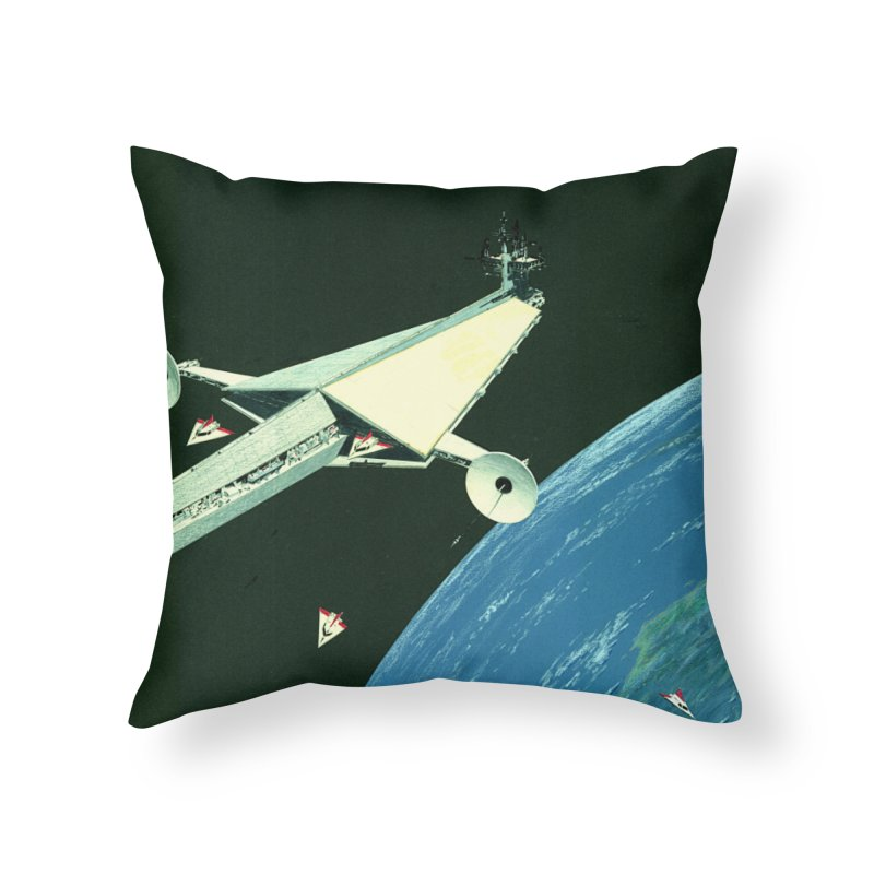 Concept Ship 6 Home Throw Pillow by Colin Cantwell ll