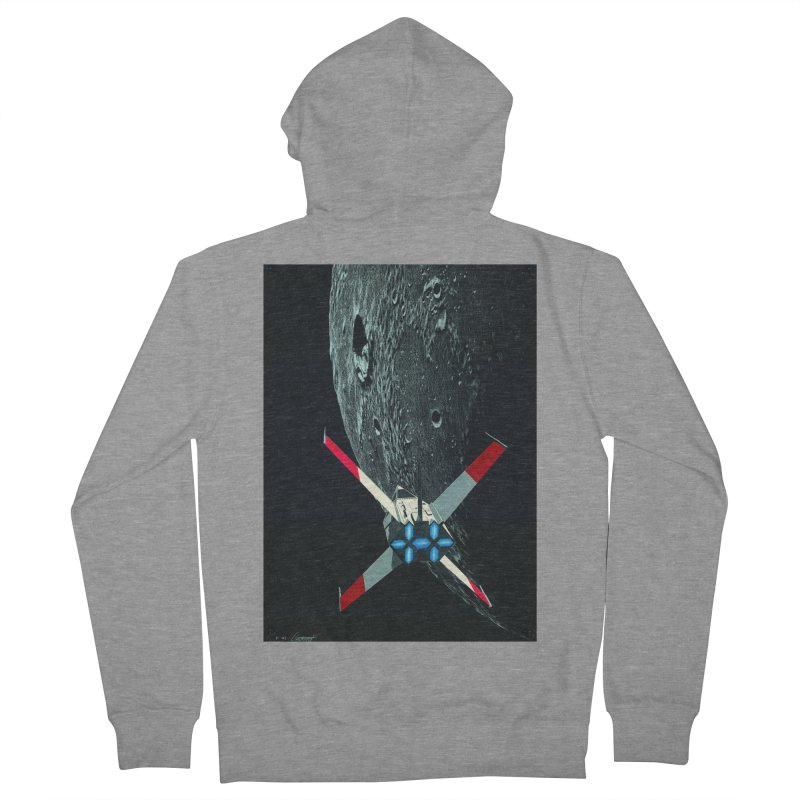 Concept Ship 4 Men's French Terry Zip-Up Hoody by Colin Cantwell ll