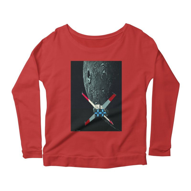 Concept Ship 4 Women's Scoop Neck Longsleeve T-Shirt by Colin Cantwell ll