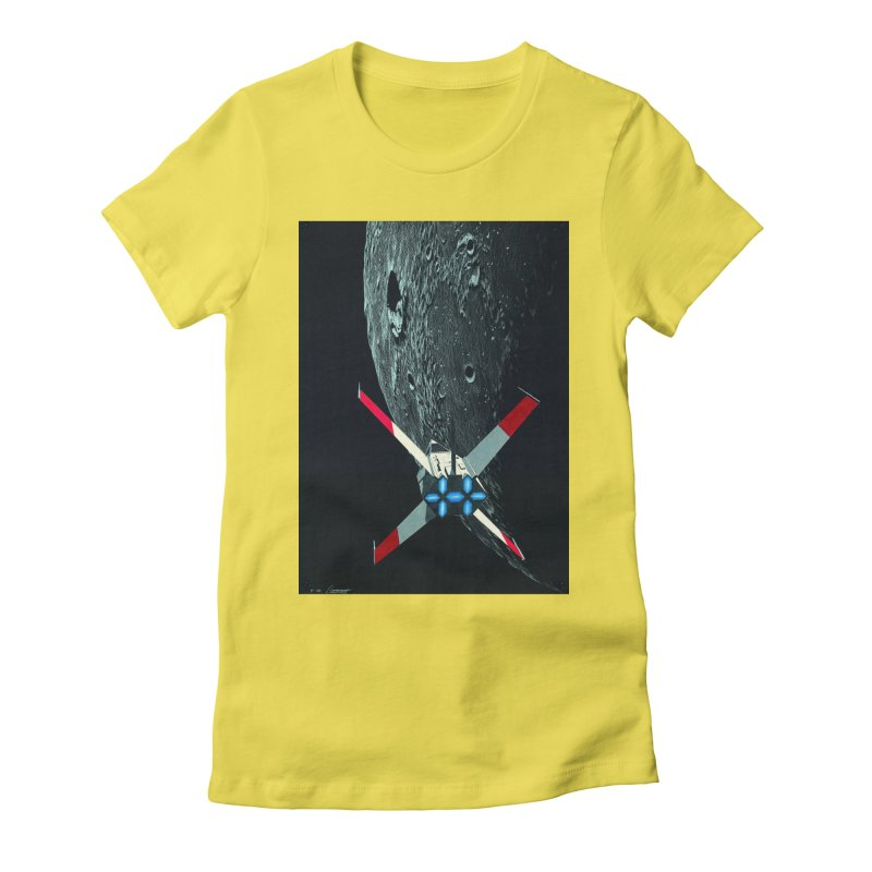 Concept Ship 4 Women's Fitted T-Shirt by Colin Cantwell ll