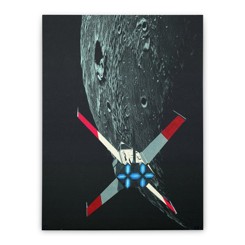 Concept Ship 4 Home Stretched Canvas by Colin Cantwell ll