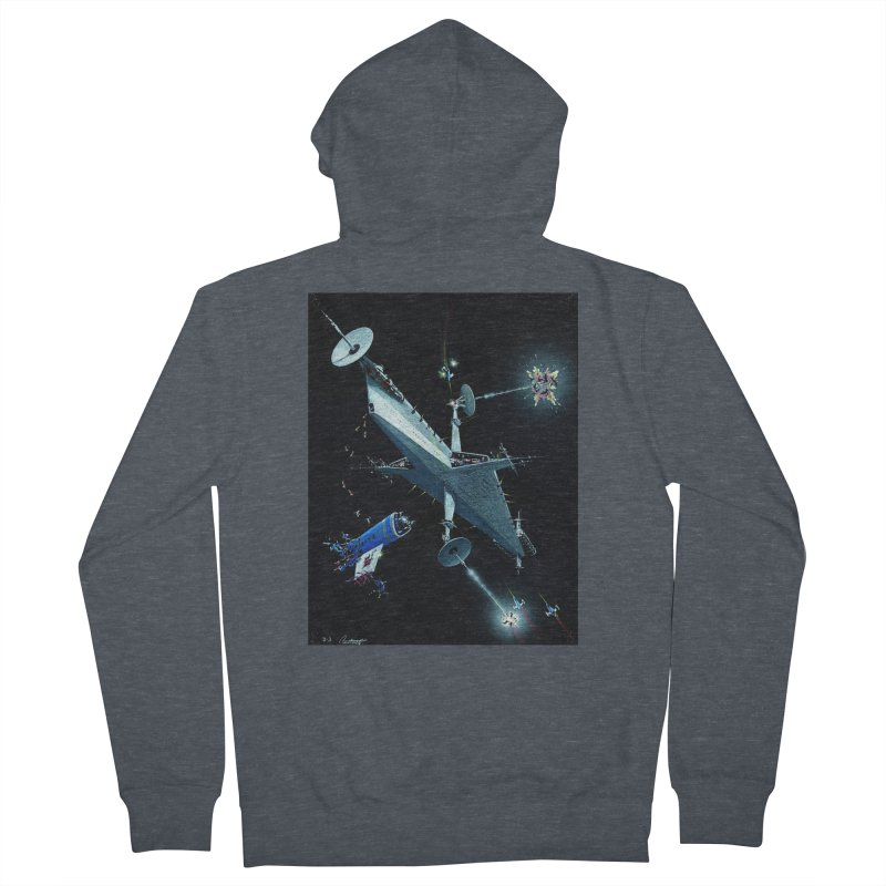 Concept Ship 3 Men's Zip-Up Hoody by Colin Cantwell ll