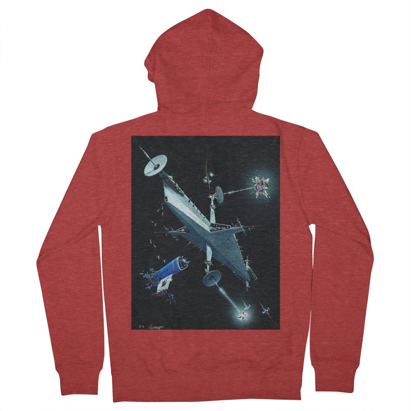 Concept Ship 3 Women's French Terry Zip-Up Hoody by Colin Cantwell ll