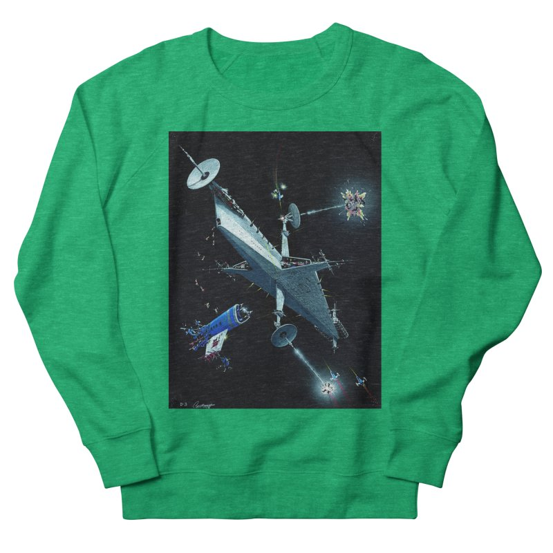 Concept Ship 3 Men's French Terry Sweatshirt by Colin Cantwell ll