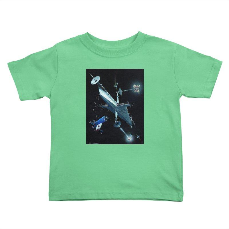 Concept Ship 3 Kids Toddler T-Shirt by Colin Cantwell ll