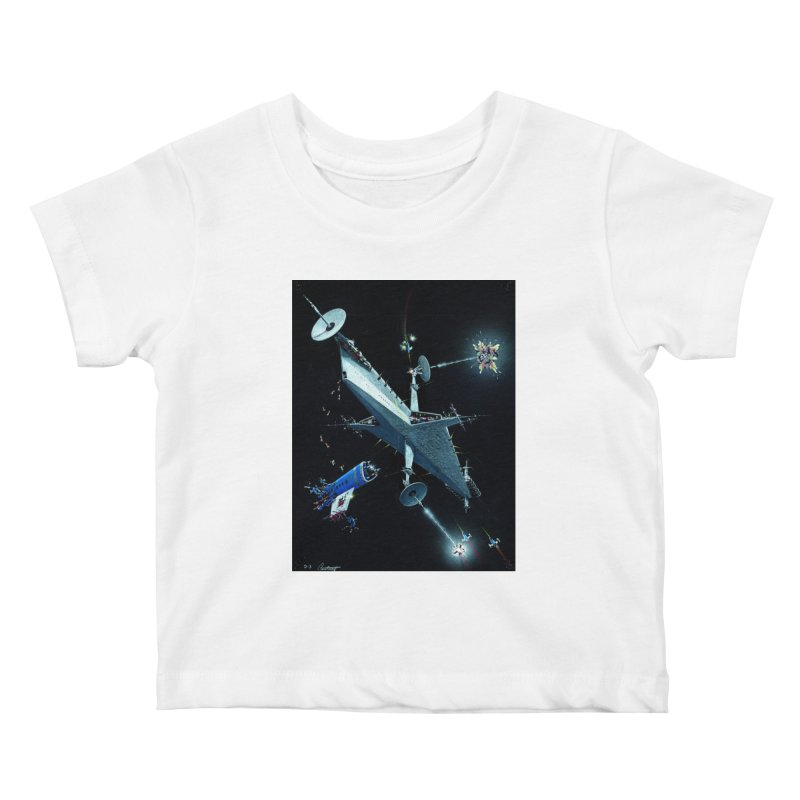 Concept Ship 3 Kids Baby T-Shirt by Colin Cantwell ll