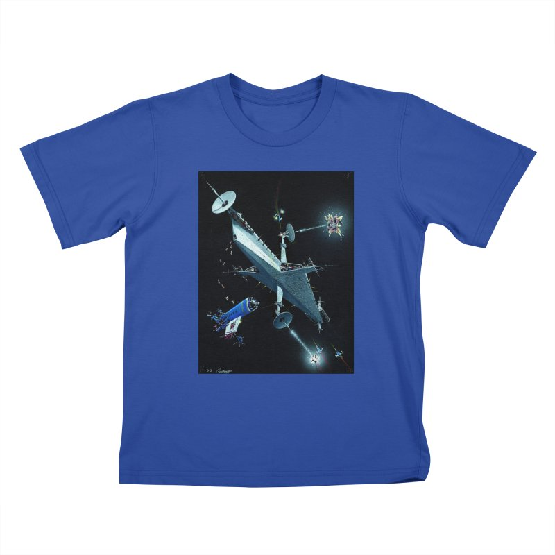 Concept Ship 3 Kids T-Shirt by Colin Cantwell ll