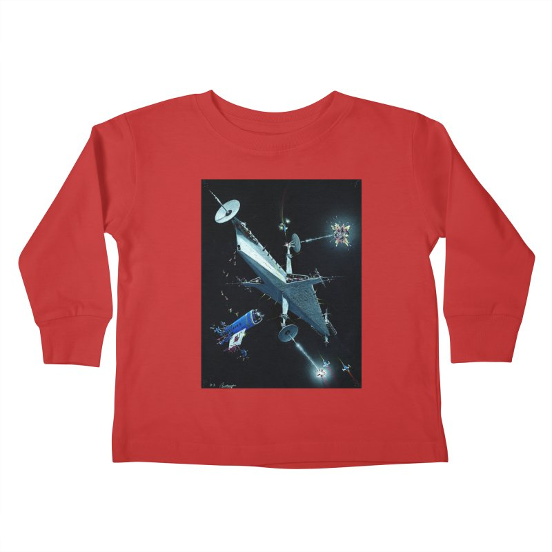 Concept Ship 3 Kids Toddler Longsleeve T-Shirt by Colin Cantwell ll