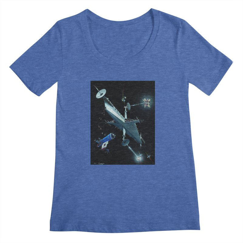 Concept Ship 3 Women's Regular Scoop Neck by Colin Cantwell ll