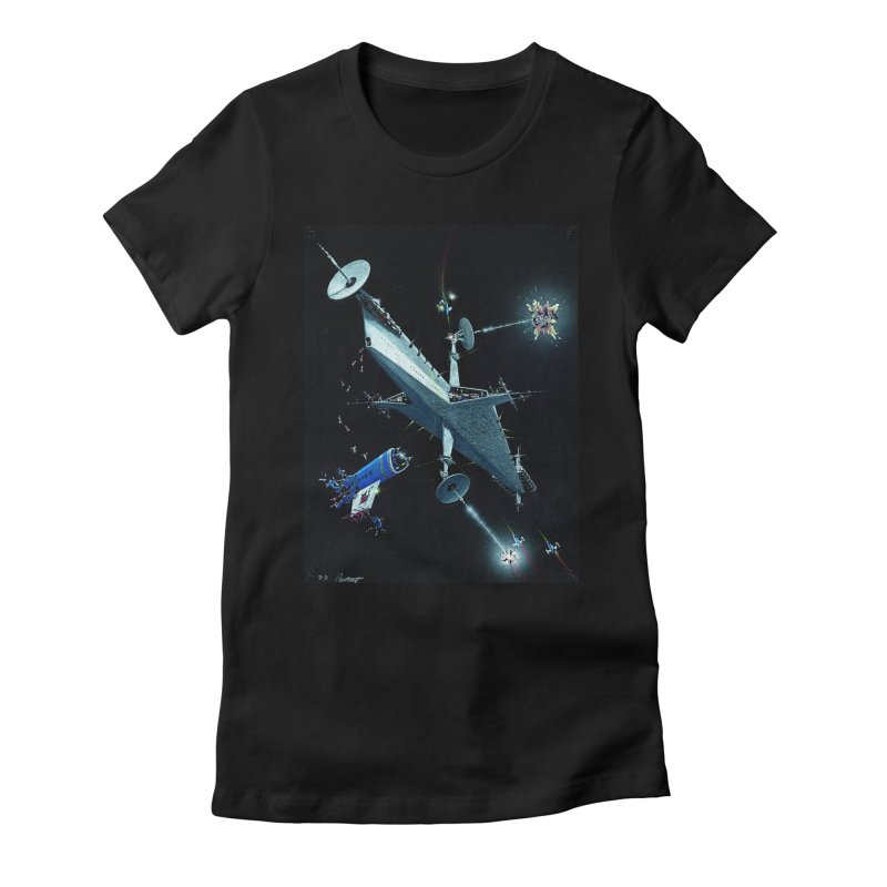 Concept Ship 3 Women's Fitted T-Shirt by Colin Cantwell ll