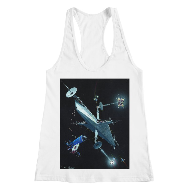 Concept Ship 3 Women's Racerback Tank by Colin Cantwell ll