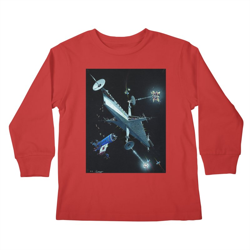 Concept Ship 3 Kids Longsleeve T-Shirt by Colin Cantwell ll