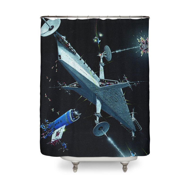 Concept Ship 3 Home Shower Curtain by Colin Cantwell ll