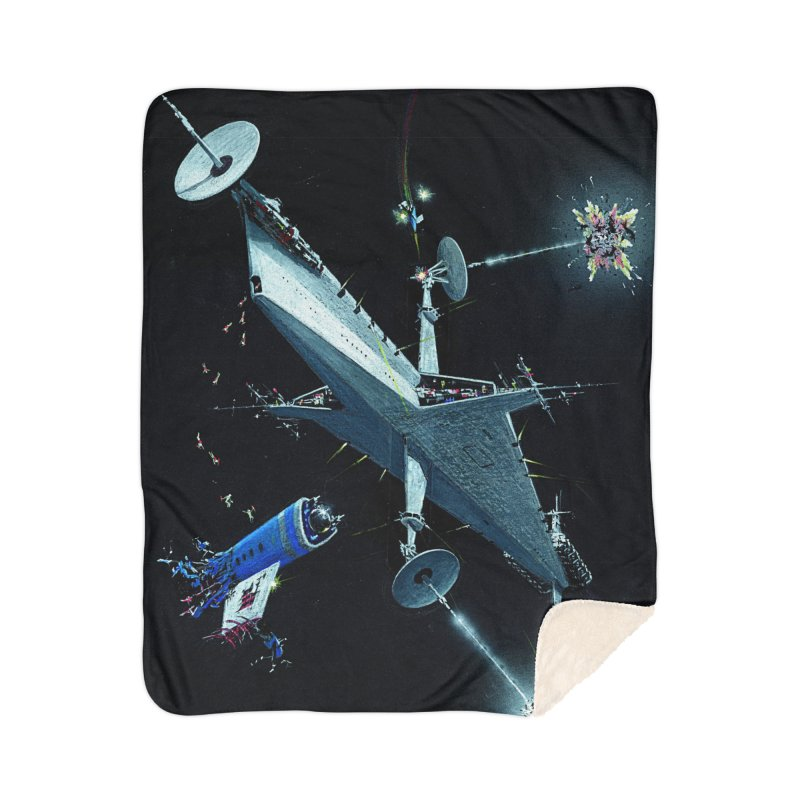 Concept Ship 3 Home Blanket by Colin Cantwell ll