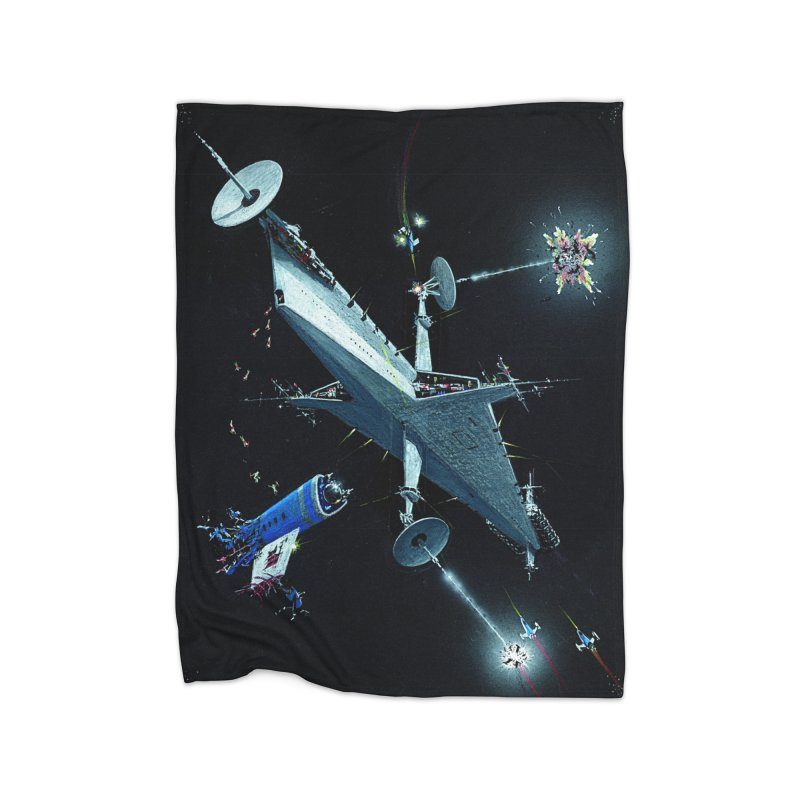 Concept Ship 3 Home Fleece Blanket Blanket by Colin Cantwell ll
