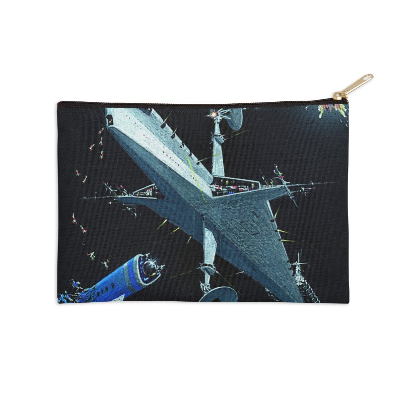 Concept Ship 3 Accessories Zip Pouch by Colin Cantwell ll