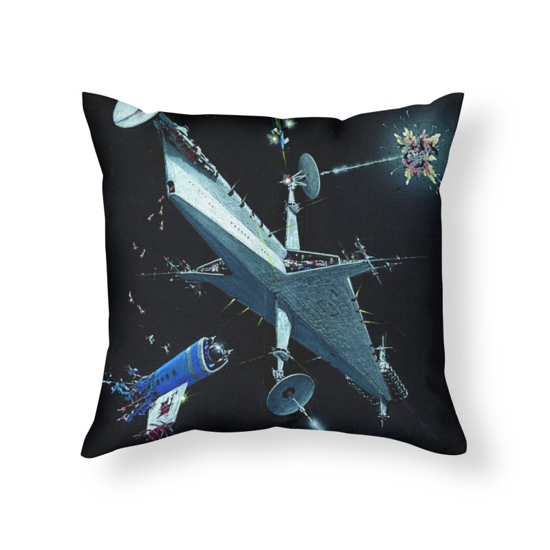 Concept Ship 3 Home Throw Pillow by Colin Cantwell ll