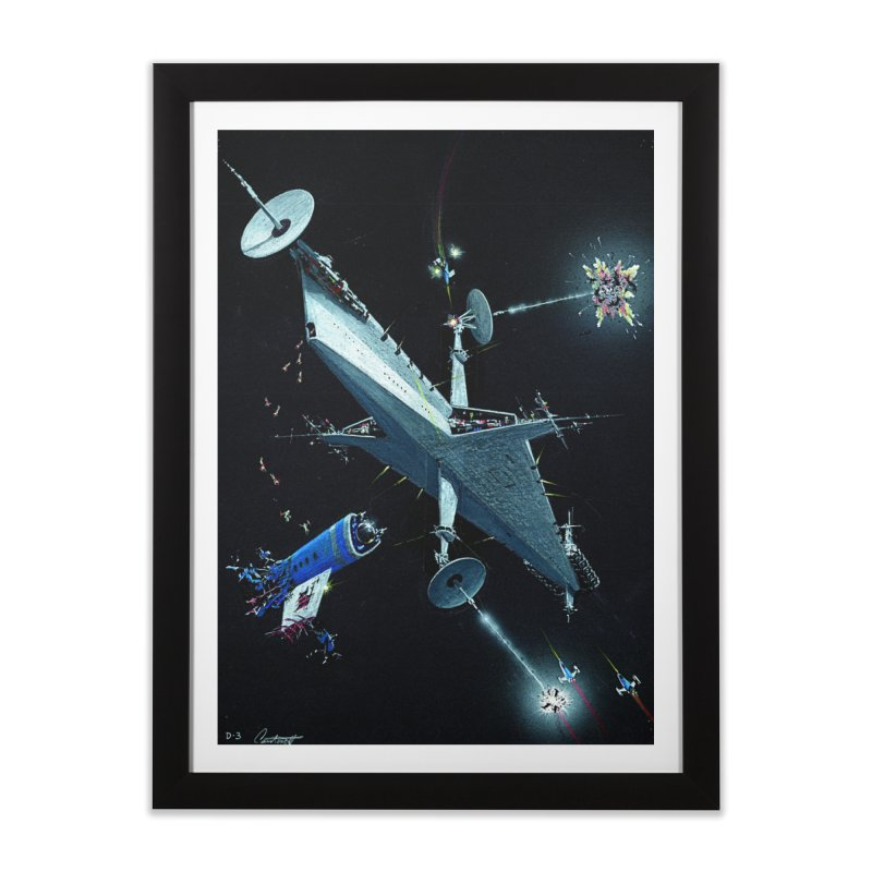 Concept Ship 3 Home Framed Fine Art Print by Colin Cantwell ll