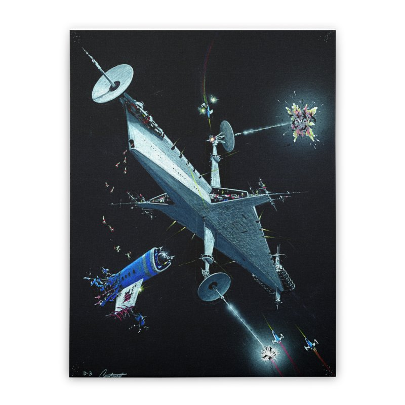 Concept Ship 3 Home Stretched Canvas by Colin Cantwell ll