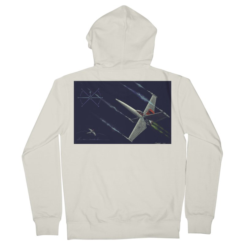 Concept Ship 2 Women's French Terry Zip-Up Hoody by Colin Cantwell ll