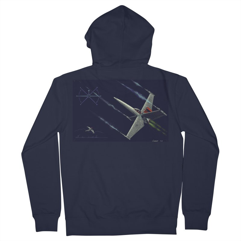 Concept Ship 2 Men's Zip-Up Hoody by Colin Cantwell ll