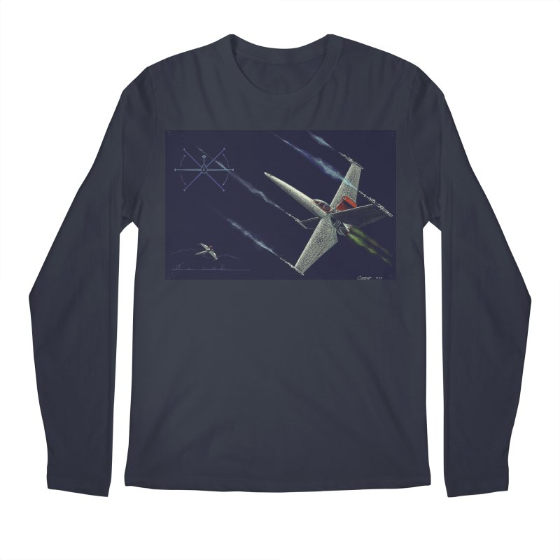 Concept Ship 2 Men's Regular Longsleeve T-Shirt by Colin Cantwell ll