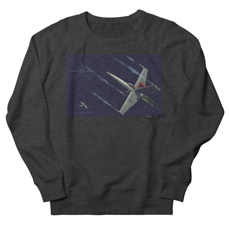 Concept Ship 2 Men's French Terry Sweatshirt by Colin Cantwell ll