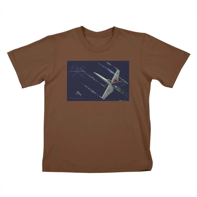 Concept Ship 2 Kids T-Shirt by Colin Cantwell ll