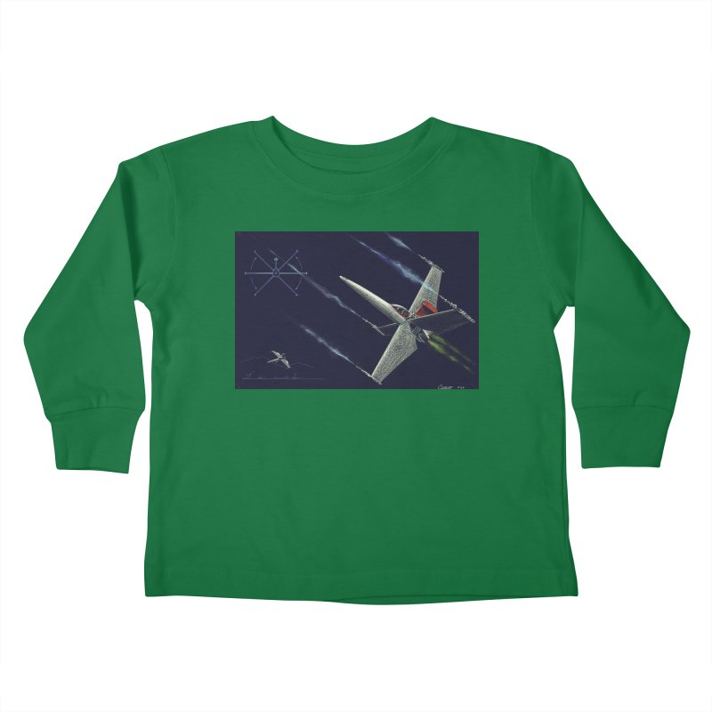 Concept Ship 2 Kids Toddler Longsleeve T-Shirt by Colin Cantwell ll
