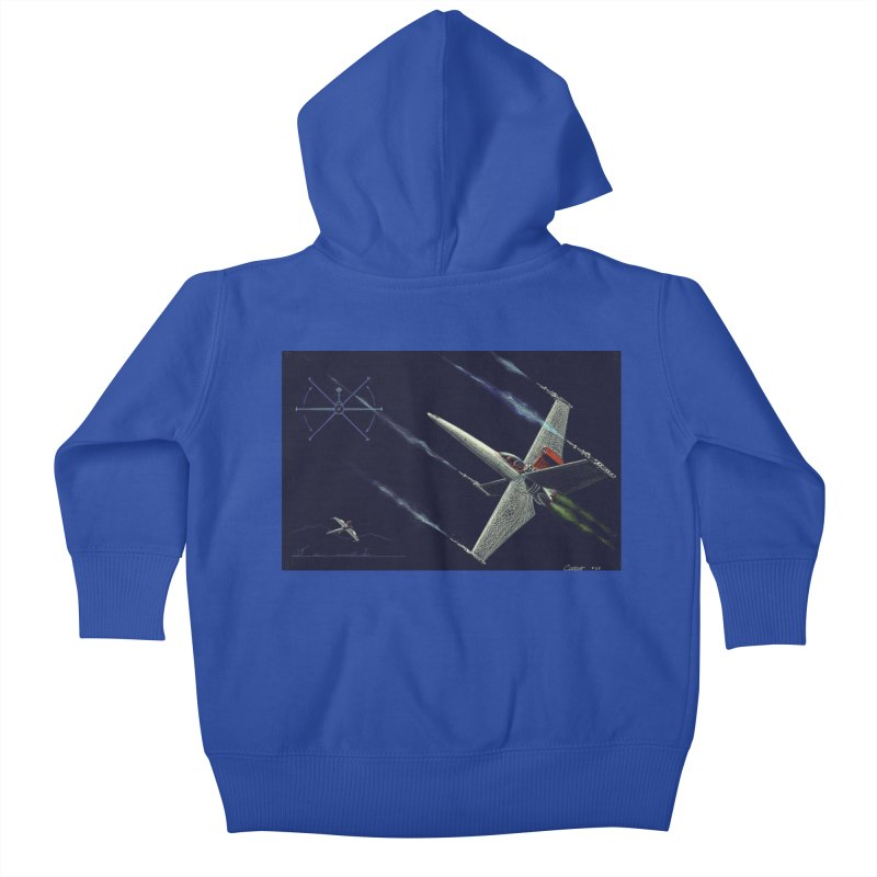 Concept Ship 2 Kids Baby Zip-Up Hoody by Colin Cantwell ll