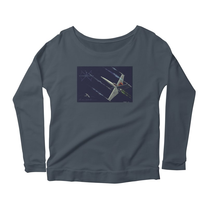Concept Ship 2 Women's Scoop Neck Longsleeve T-Shirt by Colin Cantwell ll
