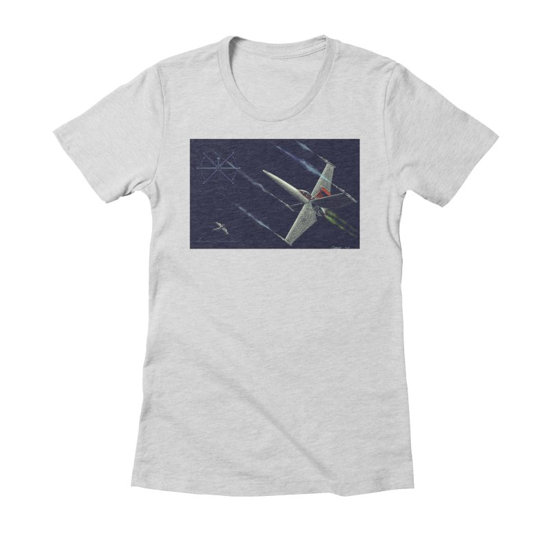 Concept Ship 2 Women's Fitted T-Shirt by Colin Cantwell ll