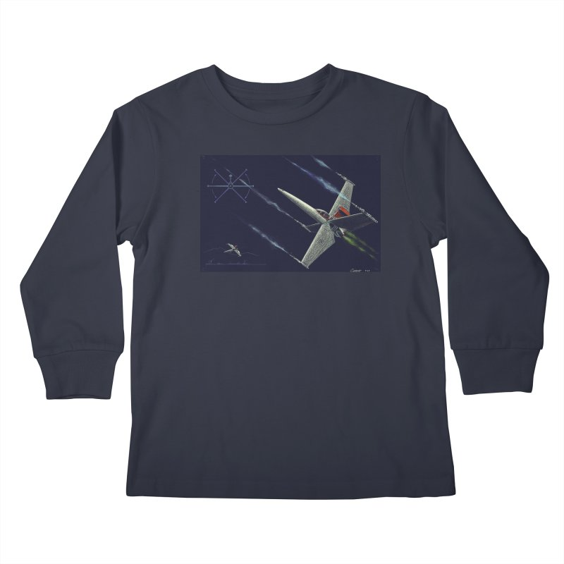 Concept Ship 2 Kids Longsleeve T-Shirt by Colin Cantwell ll